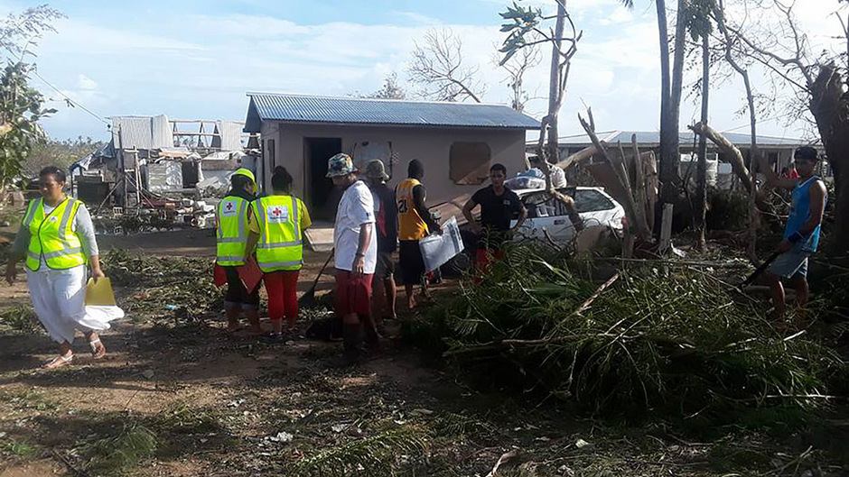 """Tropensturm """"Gita"""" richtete auf Tonga schwere Schäden an."""