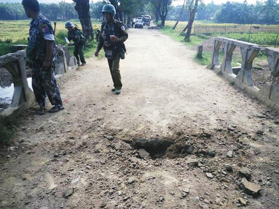 Soldaten in der Unruheregion Rakhine.