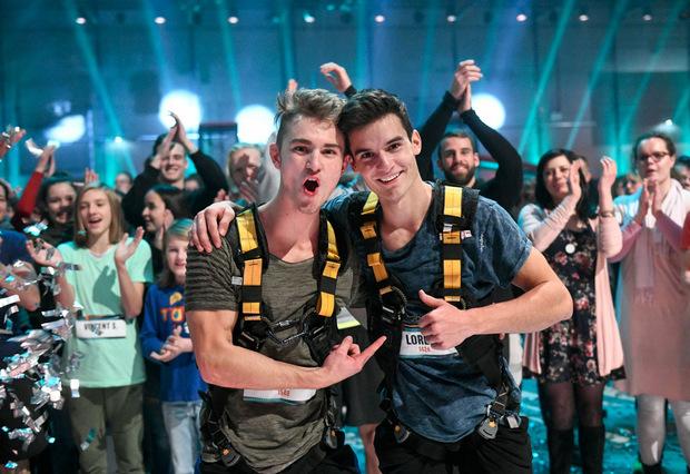 Die Finalisten Simon Brunner und Lorenz Wetscher sind gute Freunde geworden.