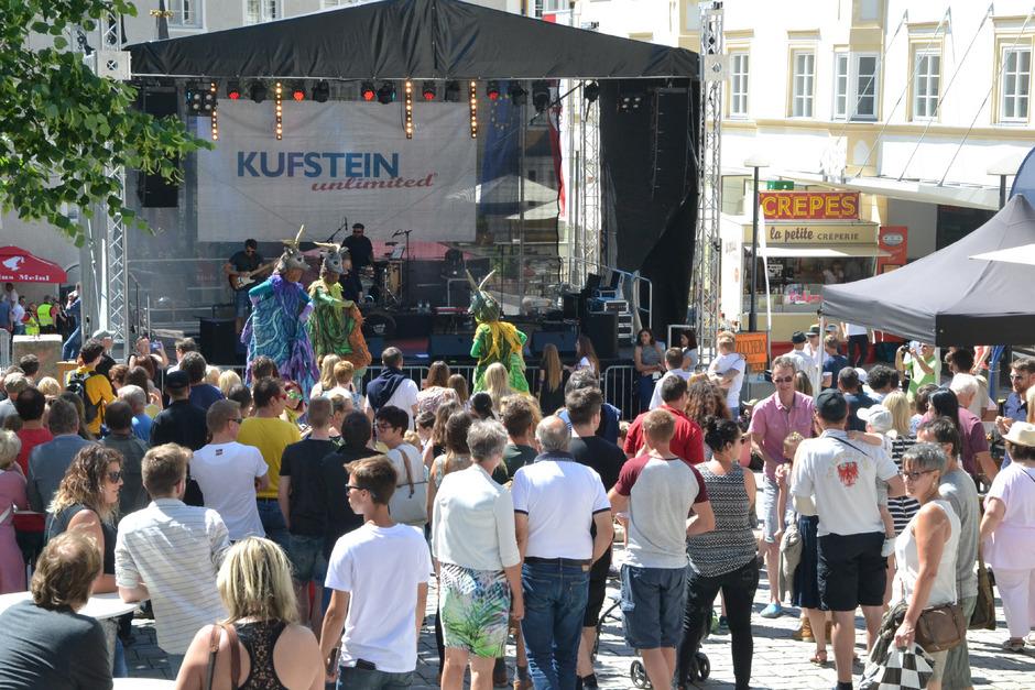 Bei strahlendem Sonnenschein war auch am Samstag einiges los auf Kufsteins Straßen.