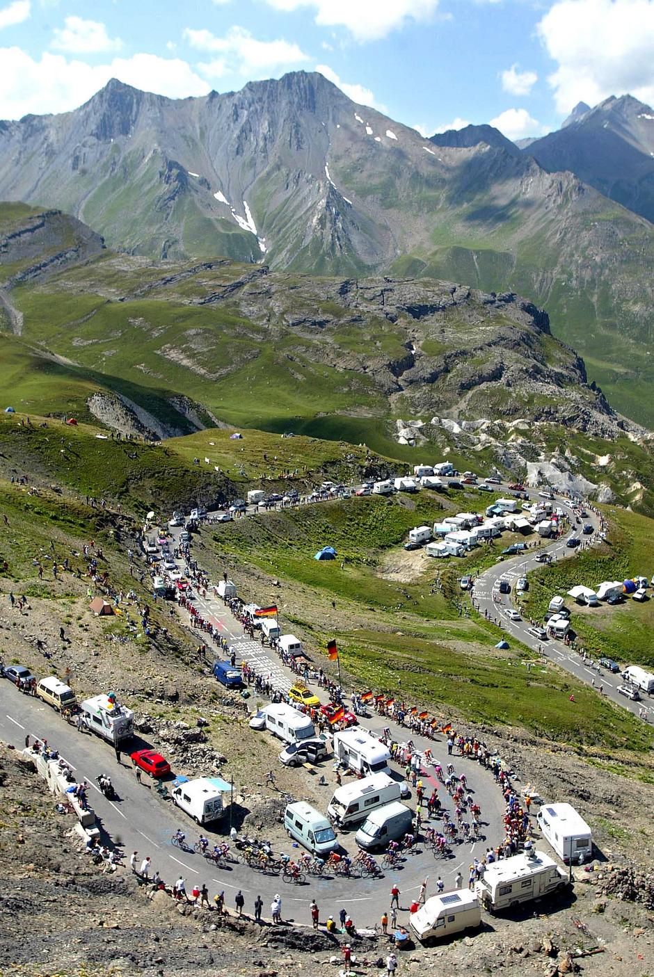 Wie bei der Tour de France werden viele Fans auch zur Rad-WM mit Wohnmobilen anreisen und neben der Strecke parken.