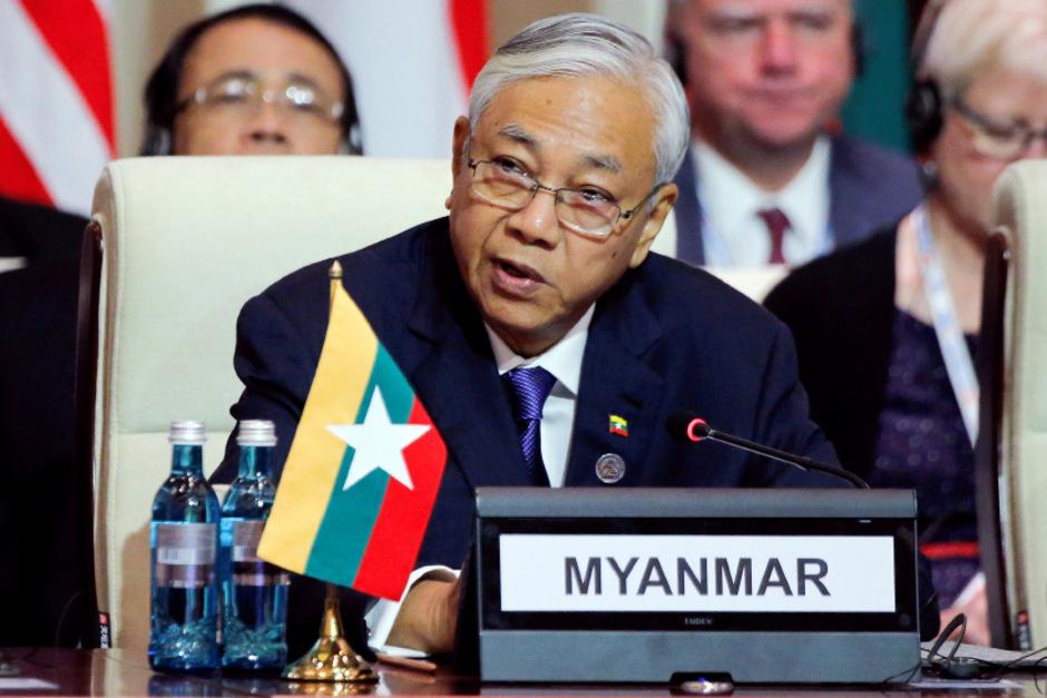 Myanmars Präsident Htin Kyaw ist zurückgetreten.