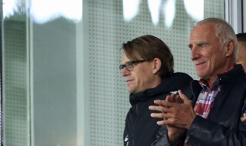 Salzburgs Sportdirektor Christoph Freund und Red-Bull-Boss Dietrich Mateschitz.