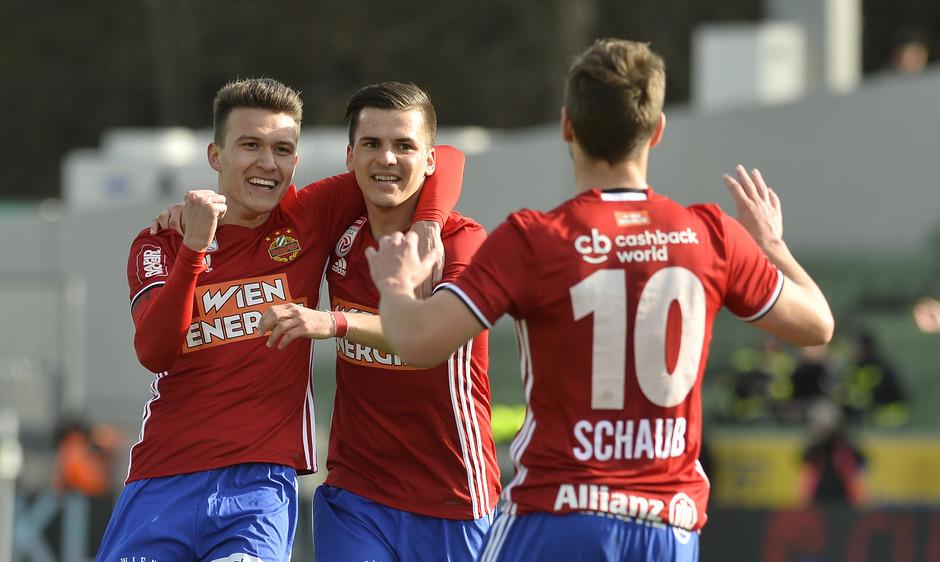 Die Rapid-Offensive machte gegen Mattersburg bereits früh alles klar.