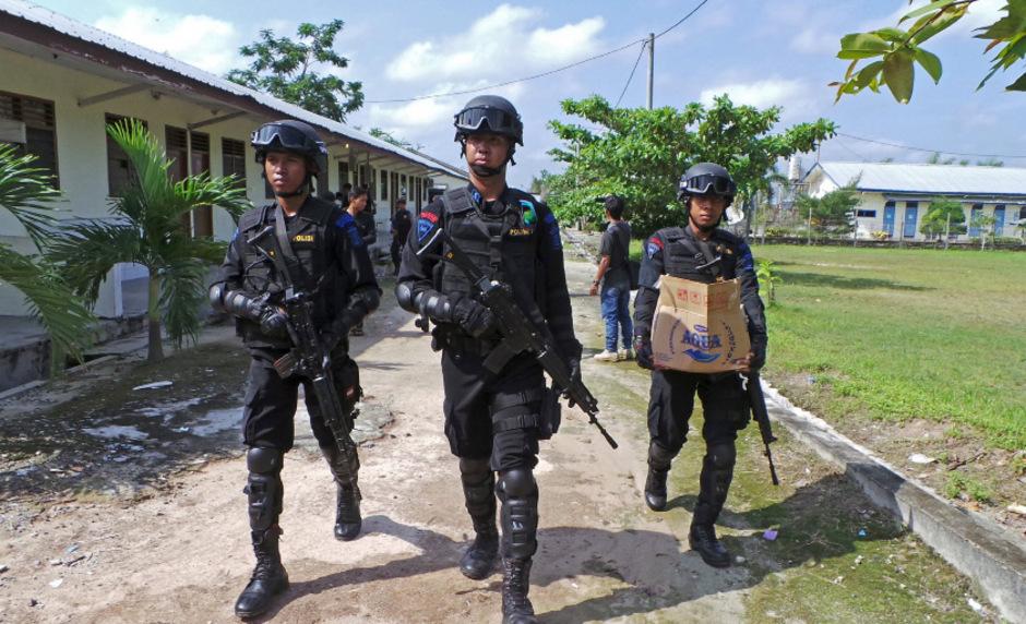 Spezialkräfte der indonesischen Polizei. (Symbolfoto)