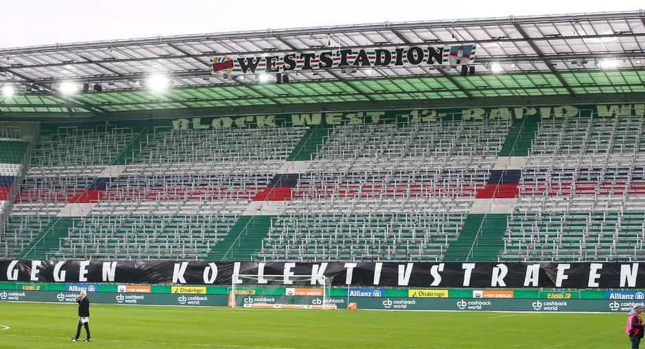 Der Block West blieb im Allianz-Stadion gegen St. Pölten gesperrt.