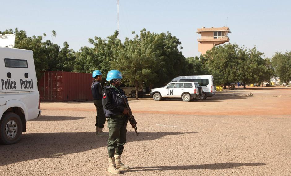 Blauhelmsoldaten am UNO-Stützpunkt in Timbuktu.