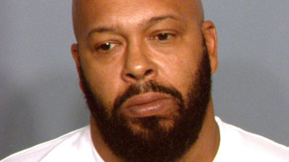 Rapper Suge Knight nach seiner Festnahme.