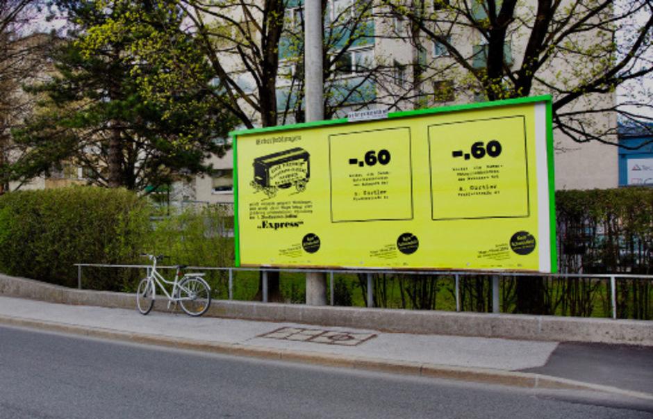 Ein Projekt, das über den Ausstellungsraum hinausreicht: etwa als Plakatwand im Stadtraum.