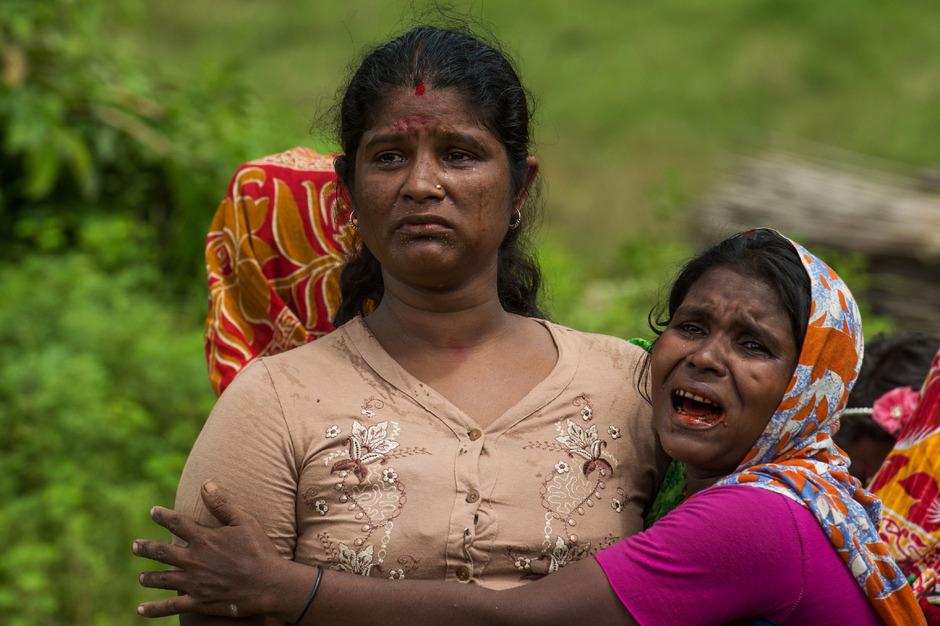 Angehörige der muslimischen Minderheit Rohingya in Myanmar.