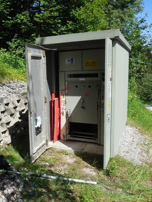 An dieser Stromschaltstelle war der Arbeiter zugang, als sich der Unfall ereignete.