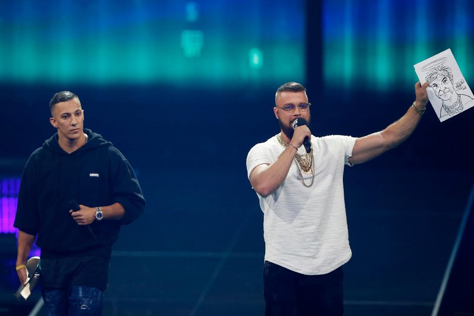 Kollegah und Farid Bang erhielten den Echo in der Kategorie Hip-Hop/Urban National.