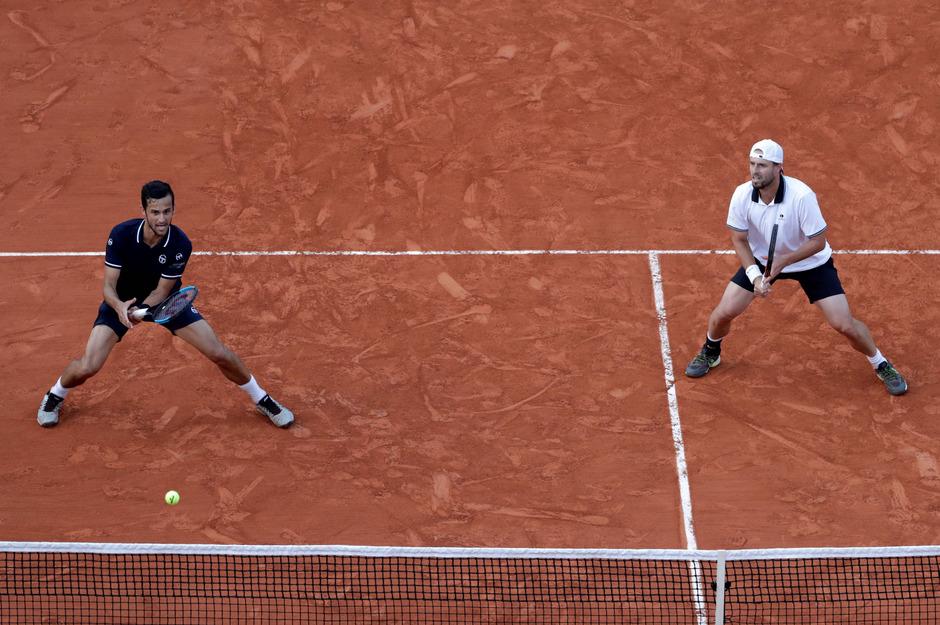 Oliver Marach (r.) und  Mate Pavic mussten sich erst im Finale geschlagen geben.