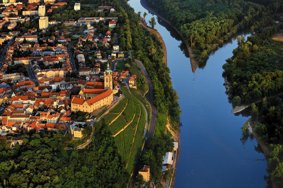 In Melnik befindet sich der Zusammenfluss von Elbe und Moldau.