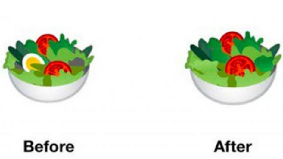 Googles Salat-Emoji geht mit der Zeit und wird künftig keine tierischen Produkte mehr enthalten.