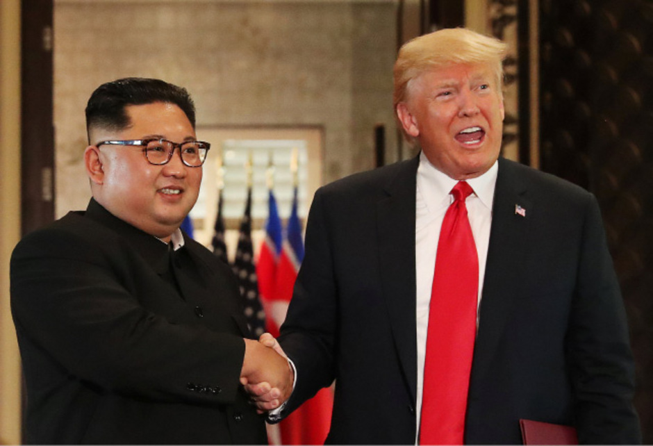 US-Präsident Donald Trump und Nordkoreas Diktator Kim Jong-un in Singapur.