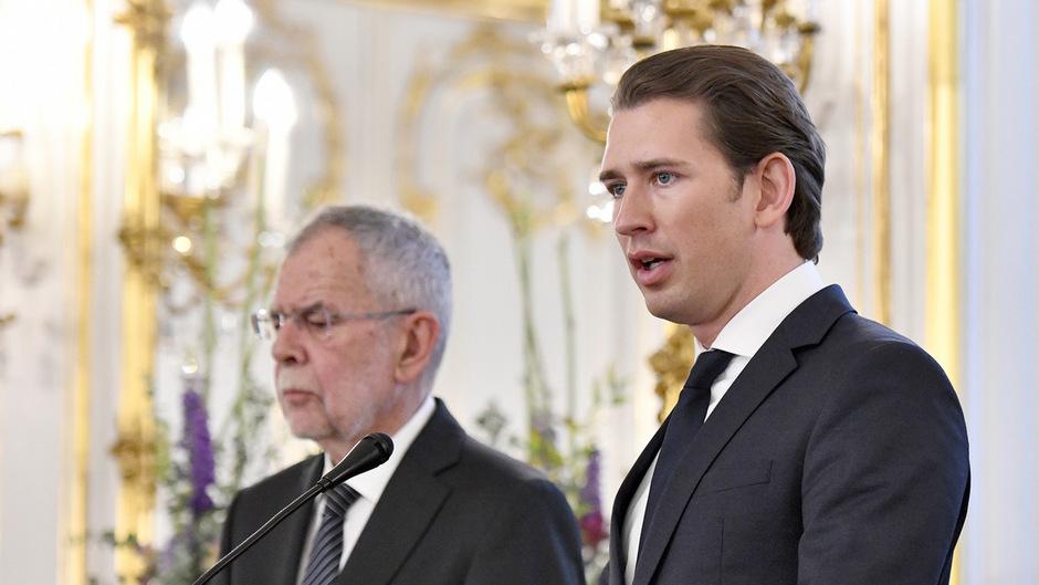Bundespräsident Alexander Van der Bellen und Kanzler Sebastian Kurz äußerten sich nach einer Sitzung im Bundeskanzleramt
