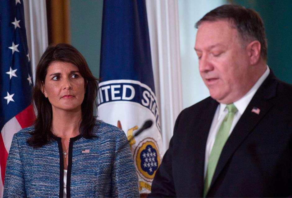 UN-Botschafterin Nikki Haley warf dem UN-Menschenrechtsrat Verlogenheit und eine israelfeindliche Haltung vor.