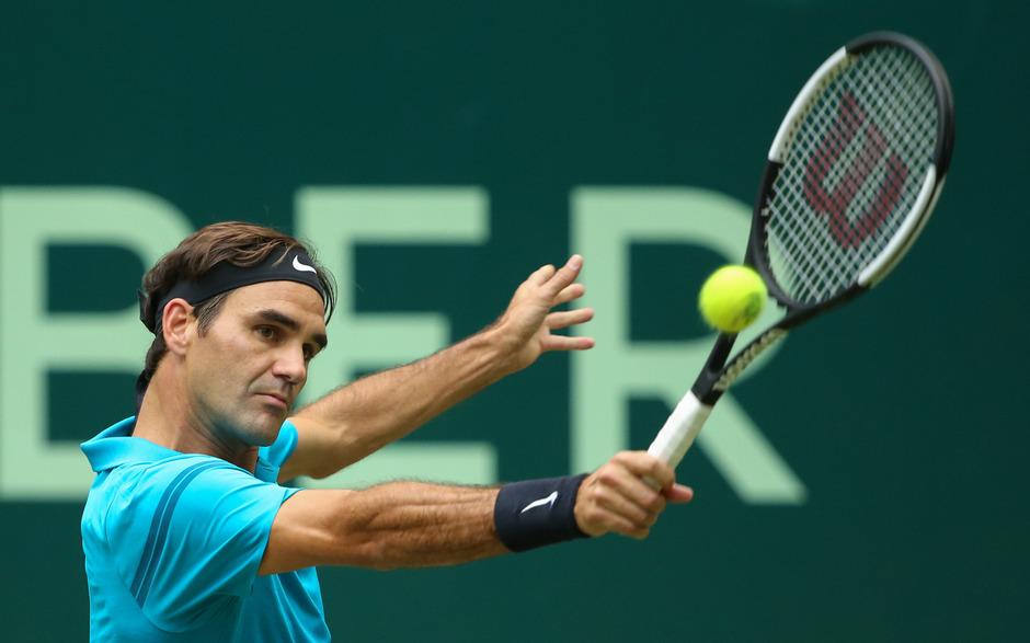 Nichts wurde es mit dem 10. Titel in Halle für Federer.