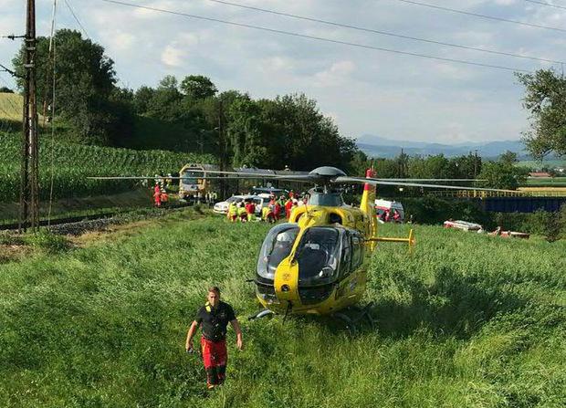 Auch Rettungshubschrauber standen im Einsatz.
