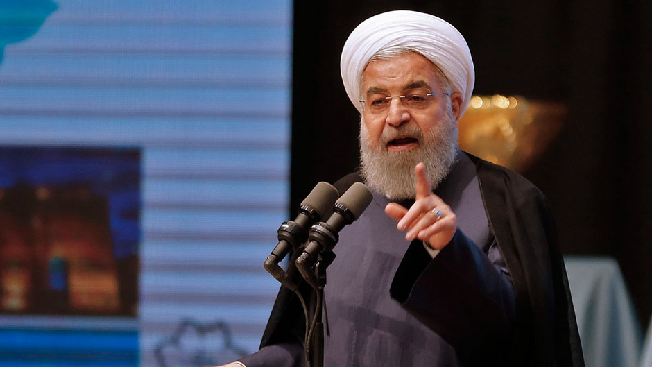 """Das Atomabkommen vom Juli 2015 ist für den Iranischen Präsidenten Hassan Rouhadi """"in keinster Weise verhandelbar""""."""