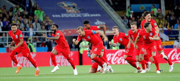 Der Moment der Erlösung für die englischen Kicker.