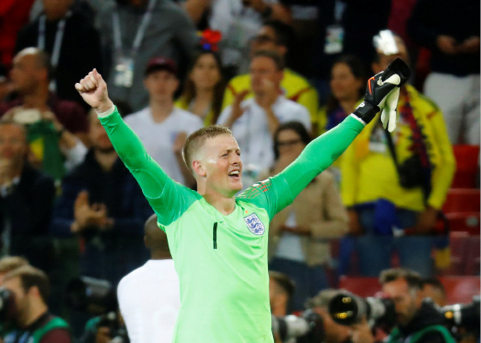 Der gefeierte England-Held: Goalie Jordan Pickford.
