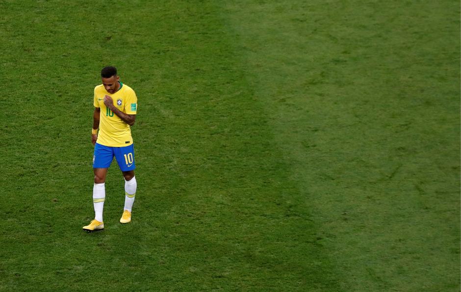 Einsamer Superstar nach dem WM-Aus: Neymar.