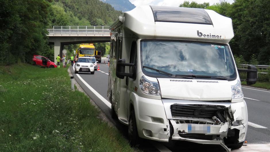 Der Lenker des Wohnmobils blieb bei dem Unfall unverletzt.