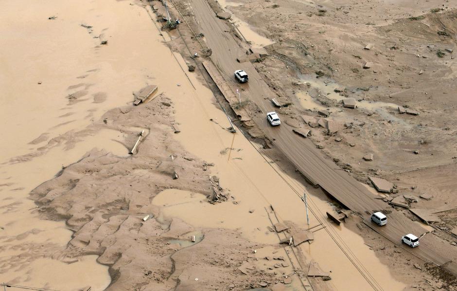 Ende vergangener Woche hatten heftige Regenfälle im Westen und Zentrum Japans schwere Überschwemmungen und Erdrutsche verursacht.