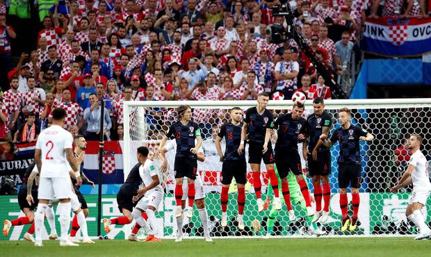 Der Traumfreistoß von Trippier brachte England früh in Führung.