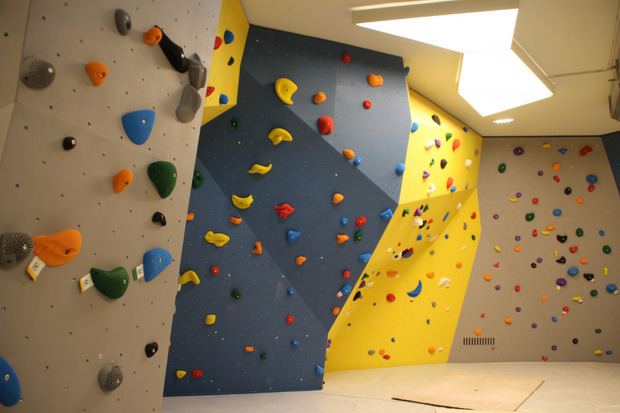 Die Boulder-Halle und das moderne Fitness-Studio sind schon ab heute geöffnet.
