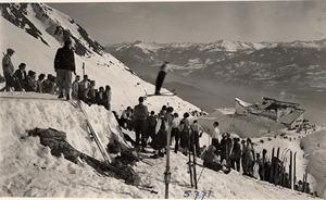 Ende der 30er-Jahre befand sich auf der Seegrube Tirols erste Skisprungschanze.