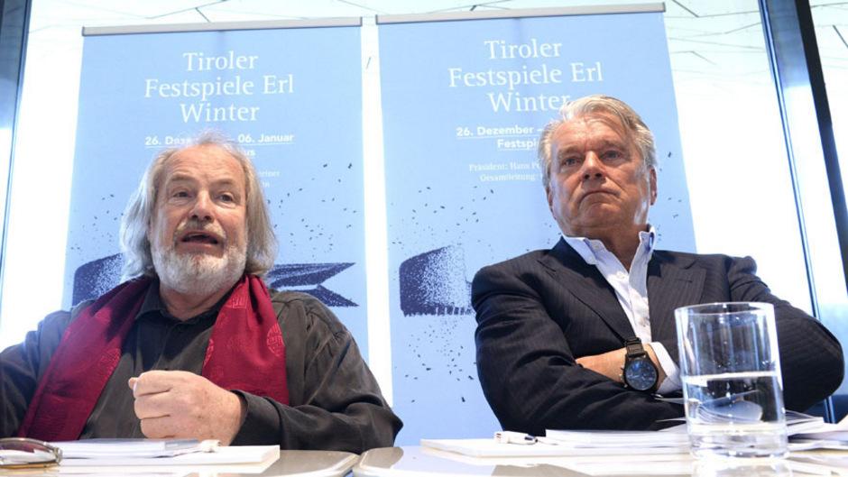 Gustav Kuhn mit Festspielpräsident Hans Peter Haselsteiner. (Archivbild)
