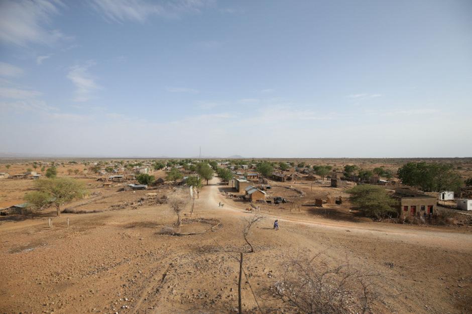 Die Stadt Badme im Yirga-Dreieck zwischen Äthiopien und Eritrea. Seit der neuen Regierung im April 2018, die Frieden mit Eritrea schloss, wird sie von Äthiopien nicht mehr beansprucht.
