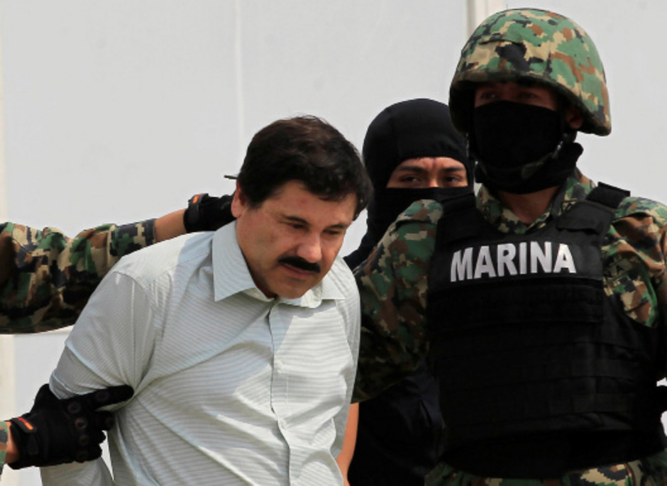 "Joaquin ""El Chapo"" Guzman bei seiner Festnahme 2014."