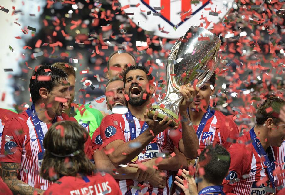 So sehen Sieger aus: Atletico holte sich den UEFA-Supercup.