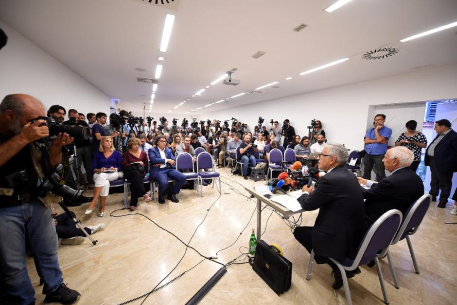 Das Interesse an der Pressekonferenz war groß.