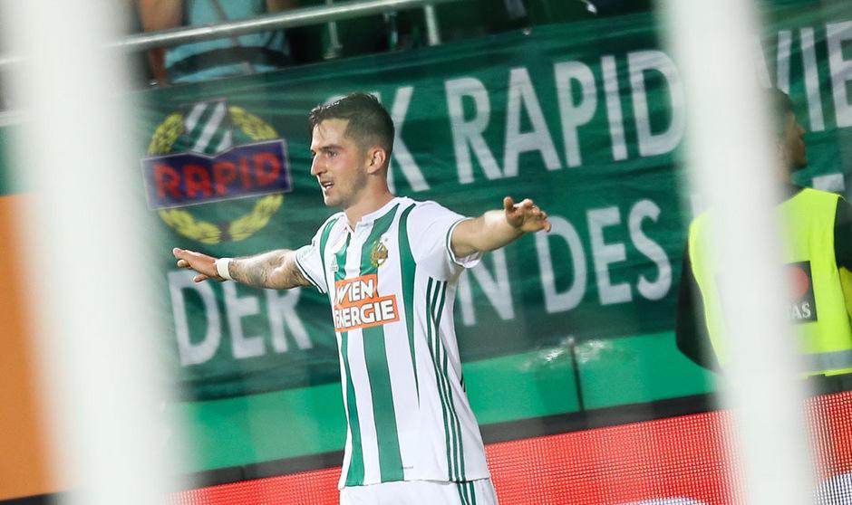 Beim 4:0-Sieg über Bratislava vor einer Woche avancierte Christoph Knasmüllner mit drei Toren zum Matchwinner für Rapid.
