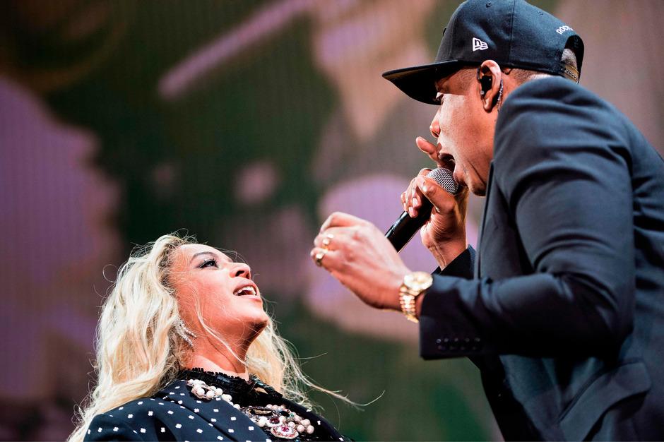 Beyoncé und Ehemann Jay-Z bei einem gemeinsamen Auftritt.