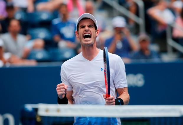 Andy Murray hatte nach seinem ersten Grand-Slam-Match seit 14 Monaten Grund zum Jubeln.