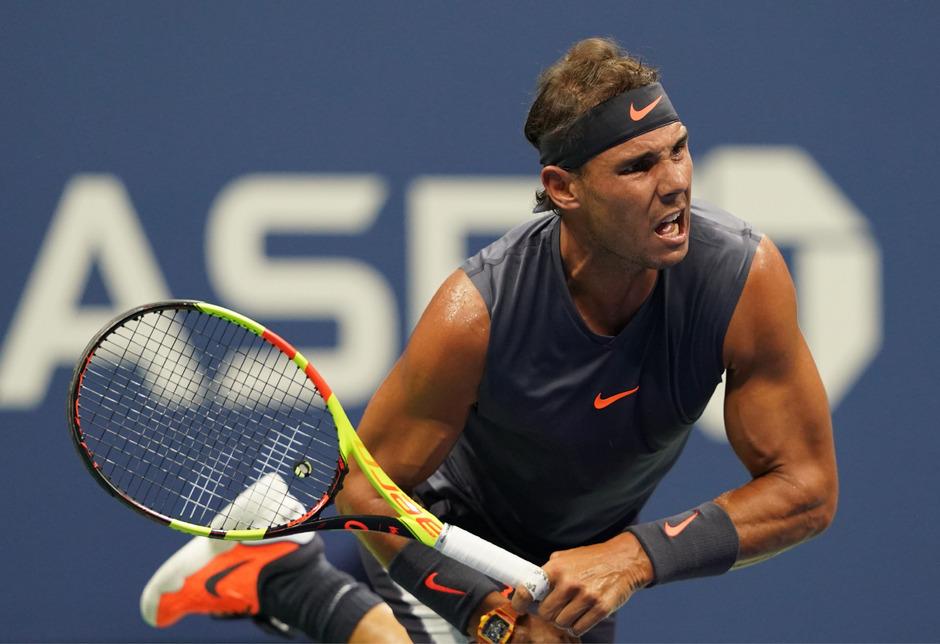 Rafael Nadal stand nach eineinhalb gespielten Sätzen als Sieger fest.