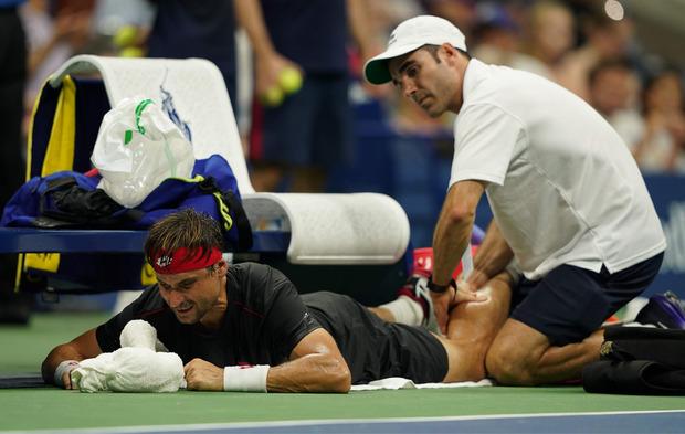 Eine Wadenverletzung zwang David Ferrer zur Aufgabe.