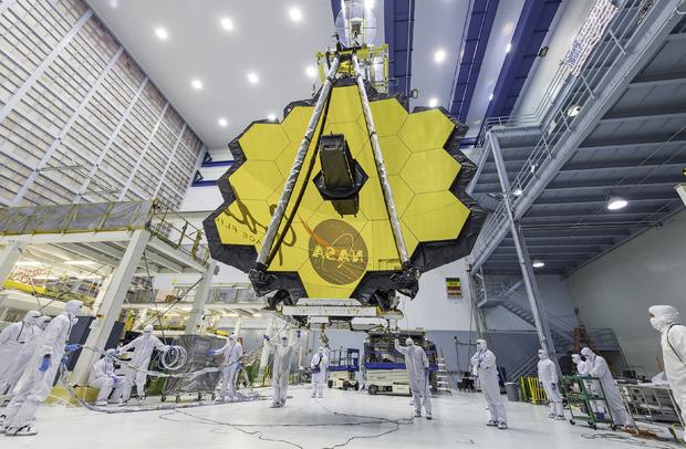 Der Spiegel: Der 25 Meter große Spiegel des Teleskops ist so konstruiert, dass er Licht der ersten Planeten einfängt.