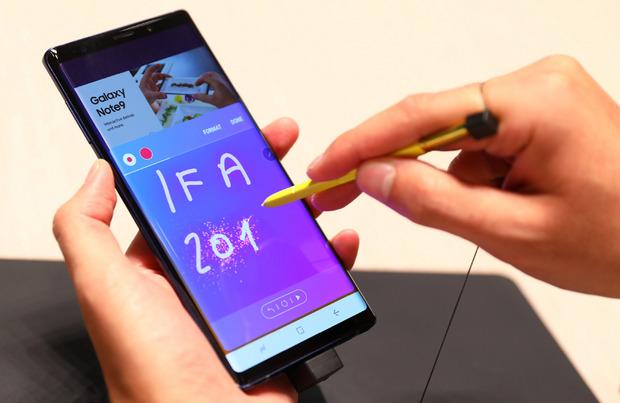 Das Samsung Note9 im Einsatz.