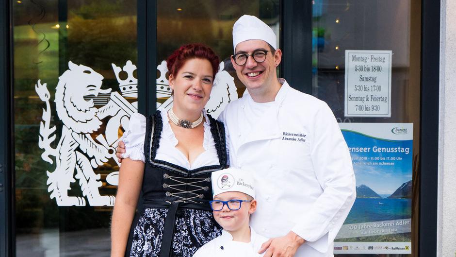 Alexander Adler feierte mit Gattin Katrin und Sohn Elias das 100-Jahr-Jubiläum.