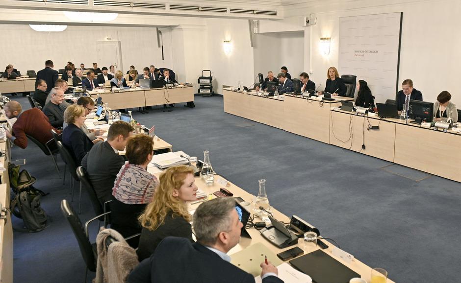 Sitzungssaal des BVT-U-Ausschuss.
