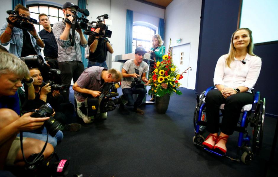 Großer Medienandrang bei Vogels Pressekonferenz.