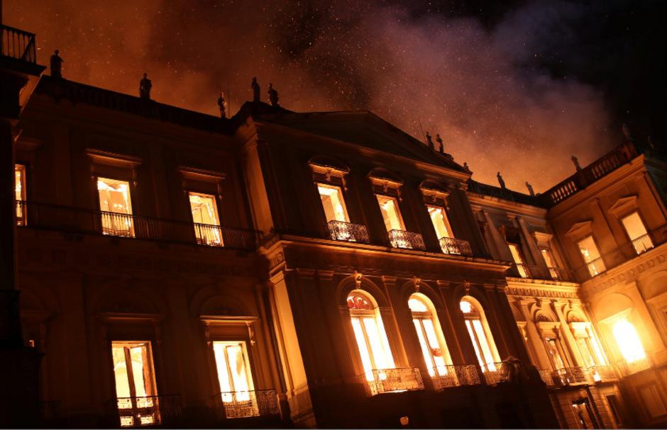 Das Feuer hat das historische Erbe Brasiliens zerstört.