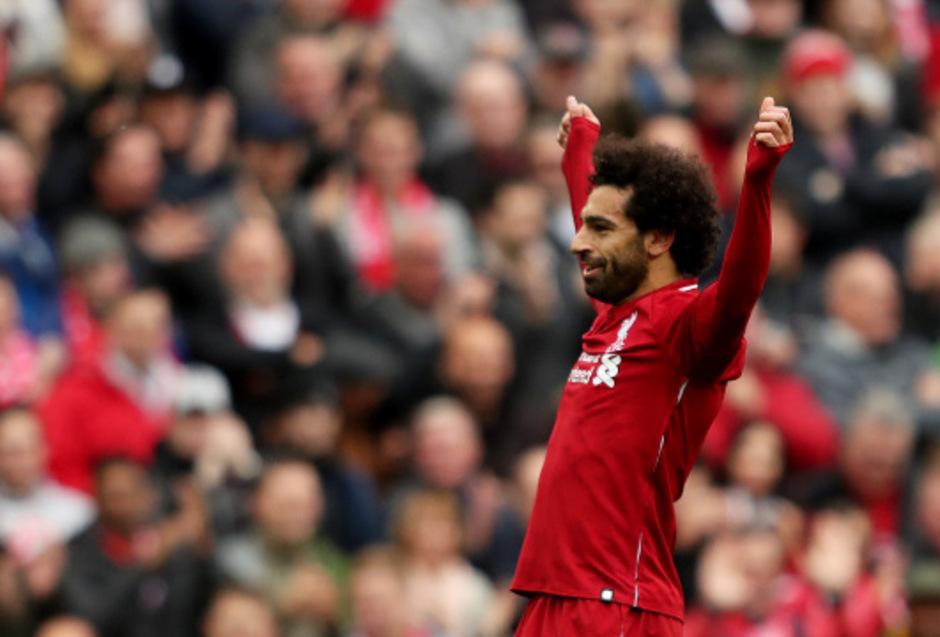 Mohamed Salah und seine Liverpool-Kollegen sind aktuell nicht zu stoppen.